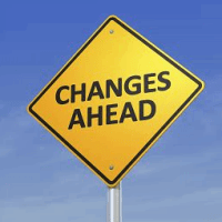 'Changes Ahead' sign