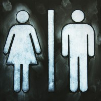 Female and male bathroom sign