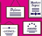 Diploma, degree, licence and award