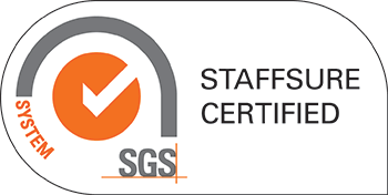SGS Staff sure certified logo