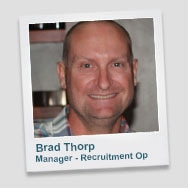 Brad Thorp - Manager Recruitment Operations