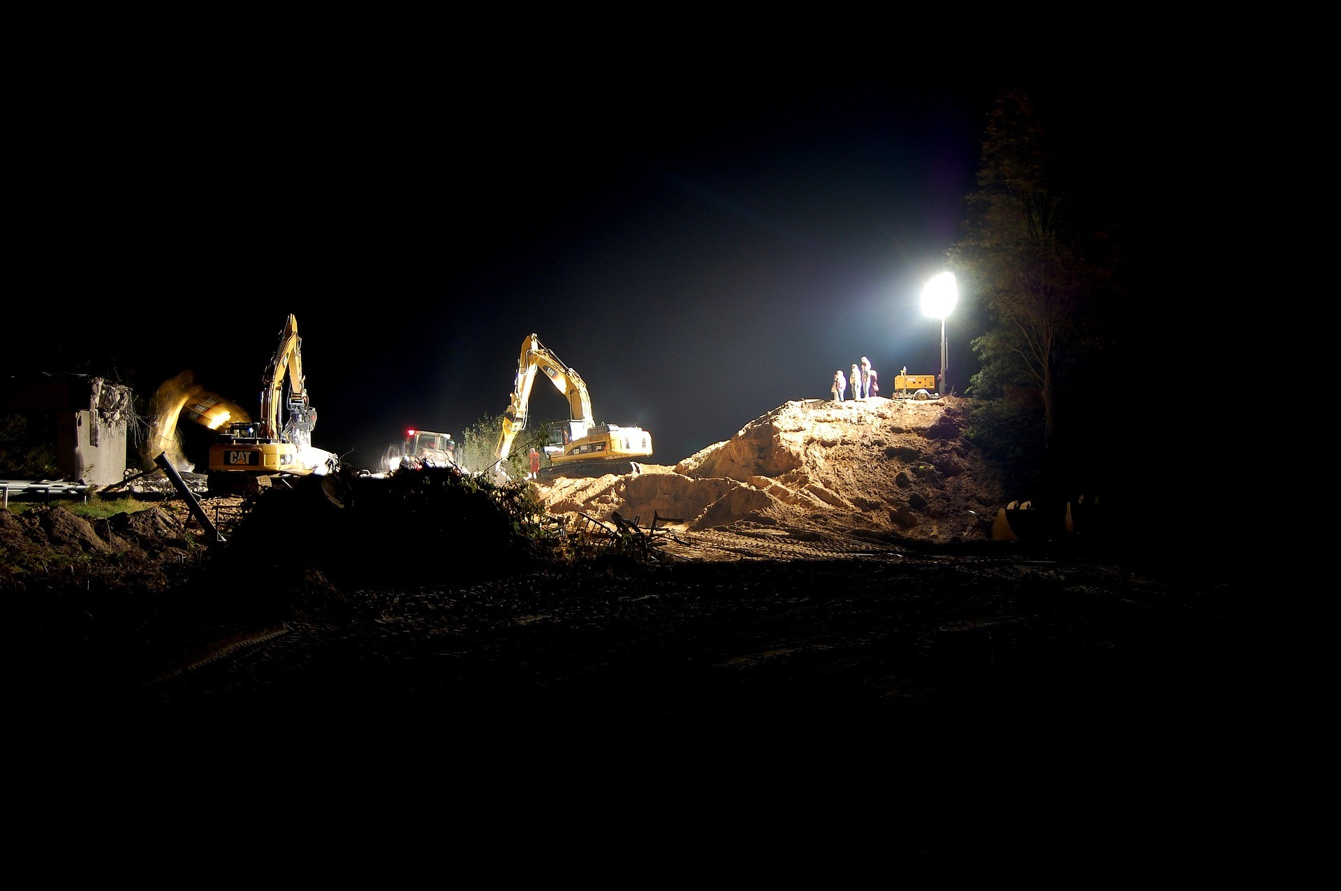 Night shift on a mine site